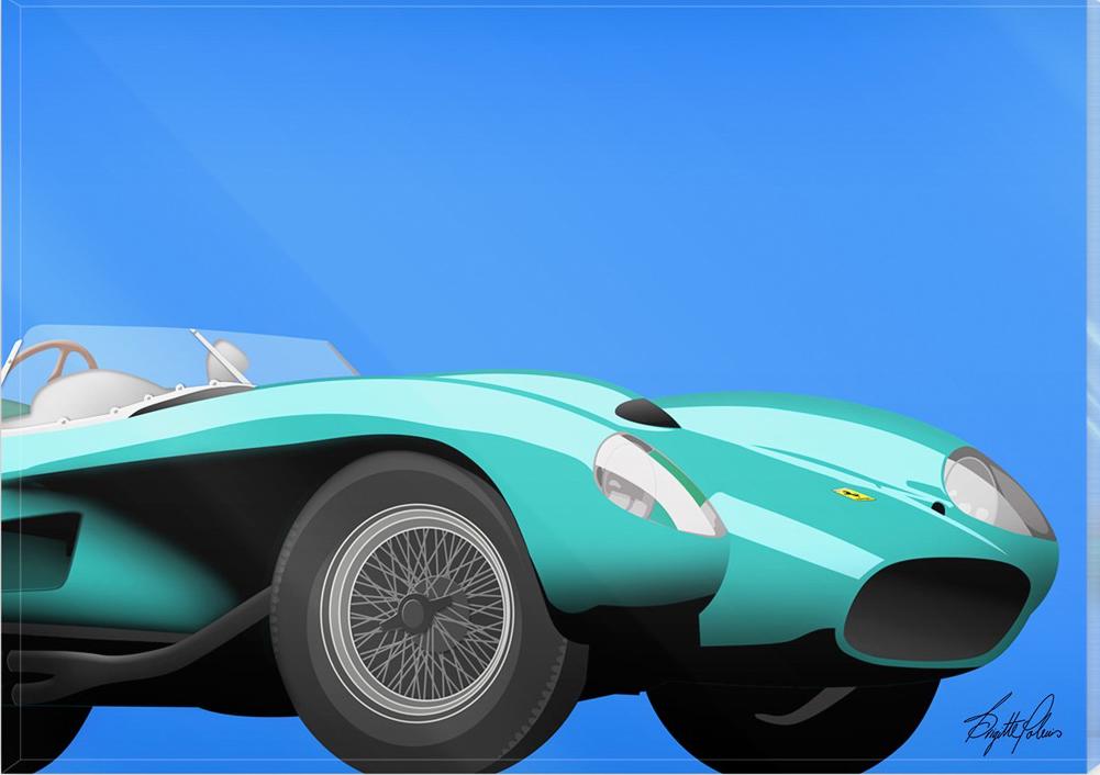 Classic Car in frame