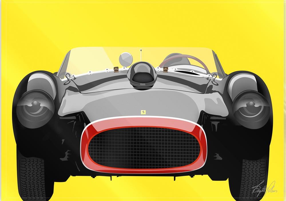 Black Ferrari in frame