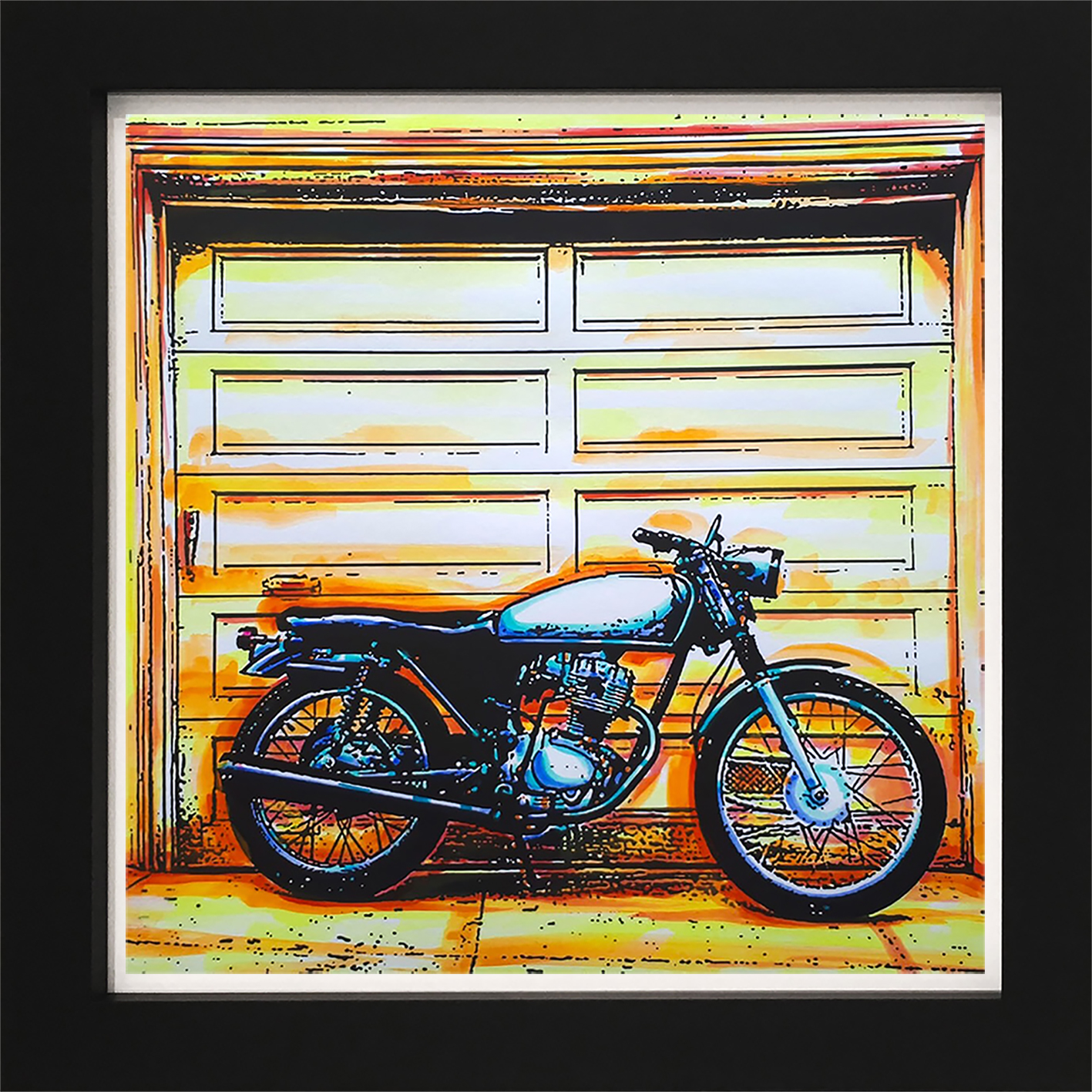 Motorcycle in frame